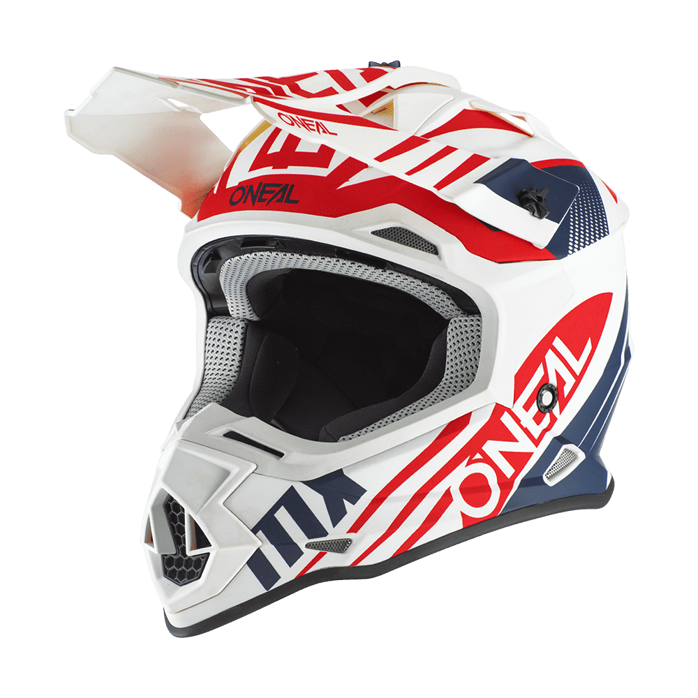 O`NEAL 2SRS HELM SPYDE 2.0 WHITE/BLUE/RED